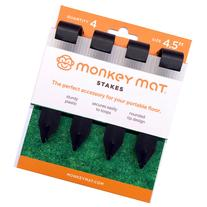 Monkey Mat Floor Mat Stakes Set 4-Pack
