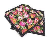 Floral Pot Holders - Pink and Orange Flowers with Green
