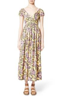 Women's Red Valentino Floral Print Stretch Poplin Dress,