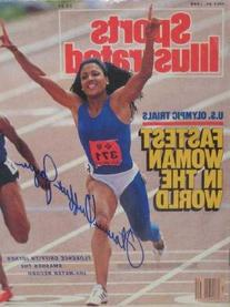 Florence Griffith Joyner autographed Sports Illustrated