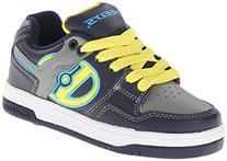 Heelys Flow Skate Shoe , Navy/Yellow/Grey, 8 M US Big Kid
