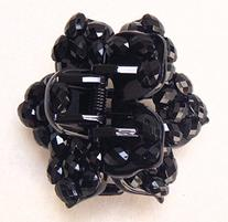 Flower Hair Claw Clip With Crystal