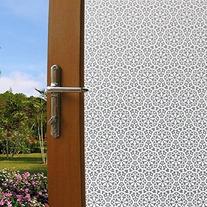 Coavas Flowers Stained Window Film Privacy Window Film,35-