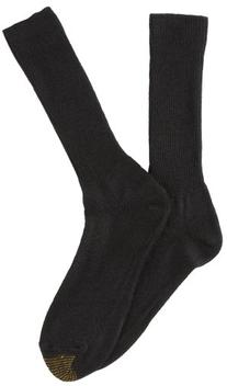 Gold Toe Men's Fluffies Casual Sock, Navy, Size 10-13