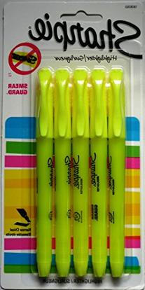 Sharpie Fluorescent Yellow Highlighter Narrow Chisel 5 Pack