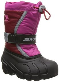 Sorel Flurry TP Boot - Little Girls' Red Dahlia/Glamour, 11.