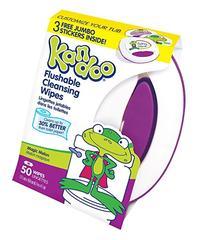 Kandoo Flushable Cleansing Wipes, Tub, Magic Melon Scent, 50
