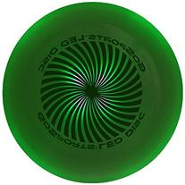 GoSports LED Flying Disc, 175 grams, with 4 LEDs, Green