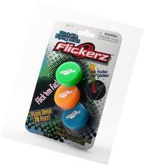Flickerz Flying Disc, Orange/Green/Blue, 3-Pack