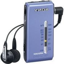 Sony FM Stereo / AM radio Blue pocketable SRF-S86 / L