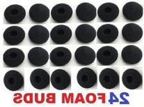 SoftRound 24 Pack Foam Earbud Earpad Ear Bud Pad Replacement
