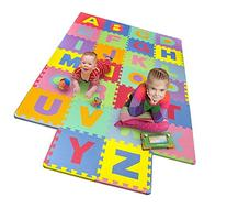 Matney Foam Mat of Alphabet Puzzle Pieces- Great for Kids to