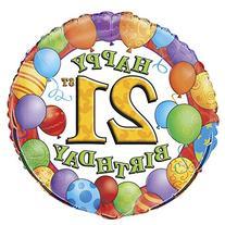 """18"""" Foil 21st Birthday Balloon"""