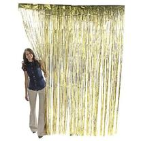 3 ft x 8 ft Foil Metallic Fringe Curtain Backdrop Party