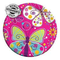 9 inch Foil Round Dinner Plates Butterfly Sparkle 96 Ct