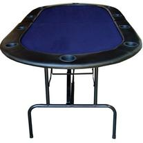"82"" Foldable Texas Hold'em Poker Table Table Top Color: Blue"