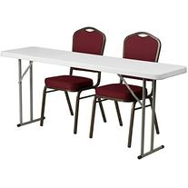 Flash Furniture Folding Training Table with 2 Crown Back