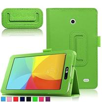 Infiland LG G Pad 7.0 Case, Folio PU Leather Case Smart Fit