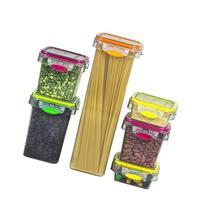 Food Storage 12 Piece Air Tight Set Colorful Plastic