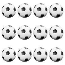 12 Pack of Soccer Style Foosballs, Black & White Textured