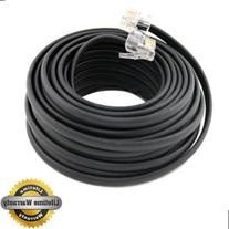 BoostWaves 100' Foot Black Telephone Extension Cord Cable