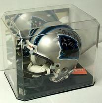 Mini Football Helmet Display Case with Black Base & Mirror