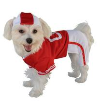 Anit Accessories Red Football Jersey Dog Costume, 16-Inch