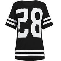 Genluna Women's Football Jersey T Shirt Top Loose Dress ,