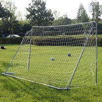 12' x 6' Football Soccer Goal W/Net Velcro Straps, Anchor