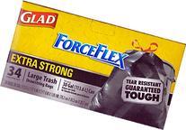 Glad Force Flex Extra Strong Large Drawstring Trash Bags 34