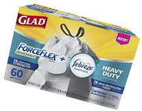 Glad ForceFlex OdorShield Tall Kitchen Drawstring Trash Bags