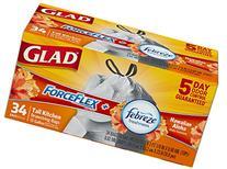 Glad ForceFlex OdorShield Drawstring Tall Kitchen Trash Bags