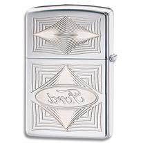 Zippo Ford Diamond High Polish Chrome Lighter