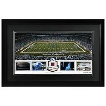 Ford Field Detroit Lions Framed Panoramic Collage with Game-