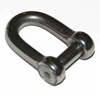 FORGED STRAIGHT STAINLESS STEEL SHACKLE WITH ALLEN SCREW