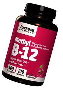 Jarrow Formulas Methyl B-12 500 mcg, Supports Brain Cells