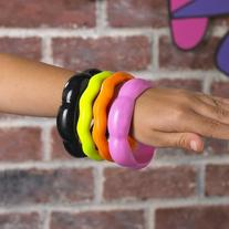 80's Punk Rock - Deluxe Costume Bangle Bracelet Set