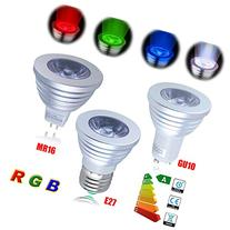 Excellent Four Pieces 3W E27 Colorful Flashing LED RGB Bulb