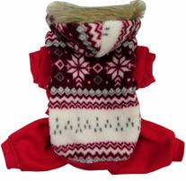 Evergreens Four Legs Snow Design Pet Dogs Winter Sweater