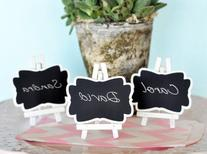 Framed Chalkboard Place Cards with Easel - Set of Three