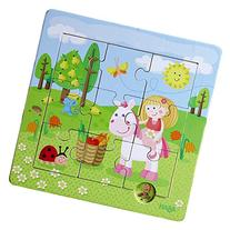 HABA Framed Wooden Puzzle Fairy Garden - with 9 Double Sided