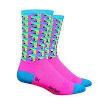 DeFeet Framework Athletic Socks, Pink, Medium