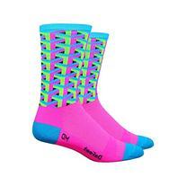 DeFeet Framework Athletic Socks, Pink, Large