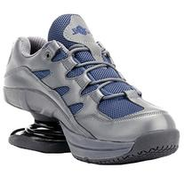 Z-CoiL Men's Freedom Slip Resistant Navy Leather Tennis Shoe