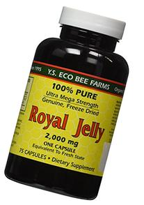 100% Pure Freeze Dried Fresh Royal Jelly - 2000 mg YS Eco