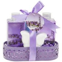 Lavender Bath and Body Gift Basket- Body Lotion,Bubble Bath,