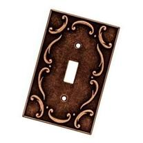 French Lace Single Switch Wall Plate, Sponged Copper