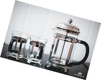 French Press Coffee & Tea Maker Set, 30oz by MARGRA: Premium