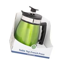 French Press Tabletop Coffee and Tea Maker with Bru Stop