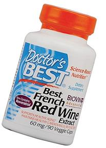 Doctor's Best French Red Wine Grape Extract, 90 count